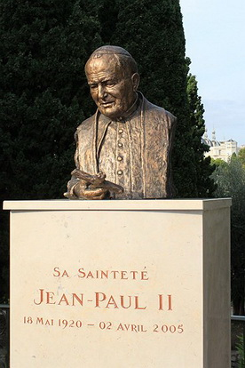 NICE,INAUGURATION DE LA PLACE JEAN-PAUL II